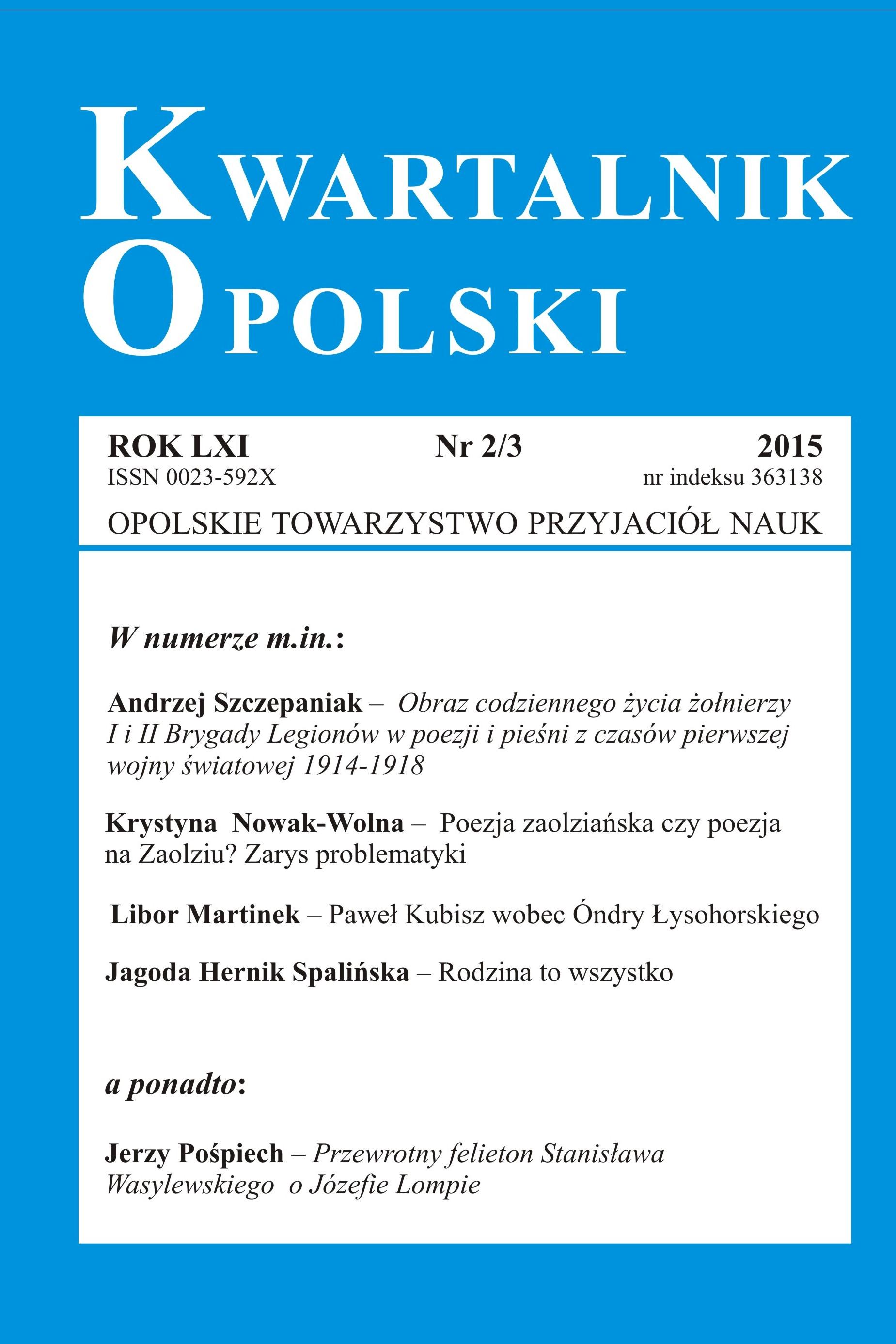 Kwartalnik Opolski 2/3 2015